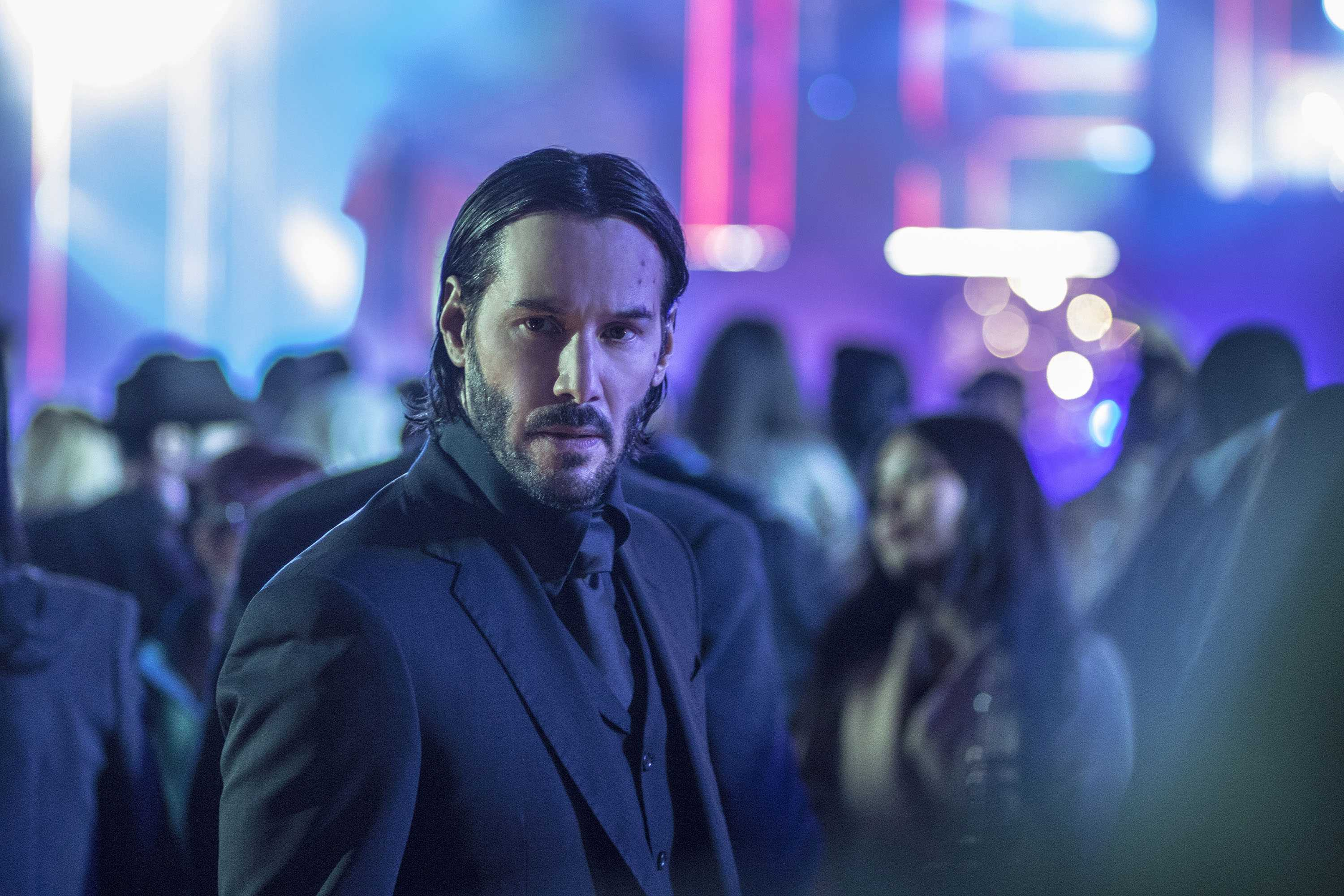 Keanu Reeves as John Wick in a scene from the movie