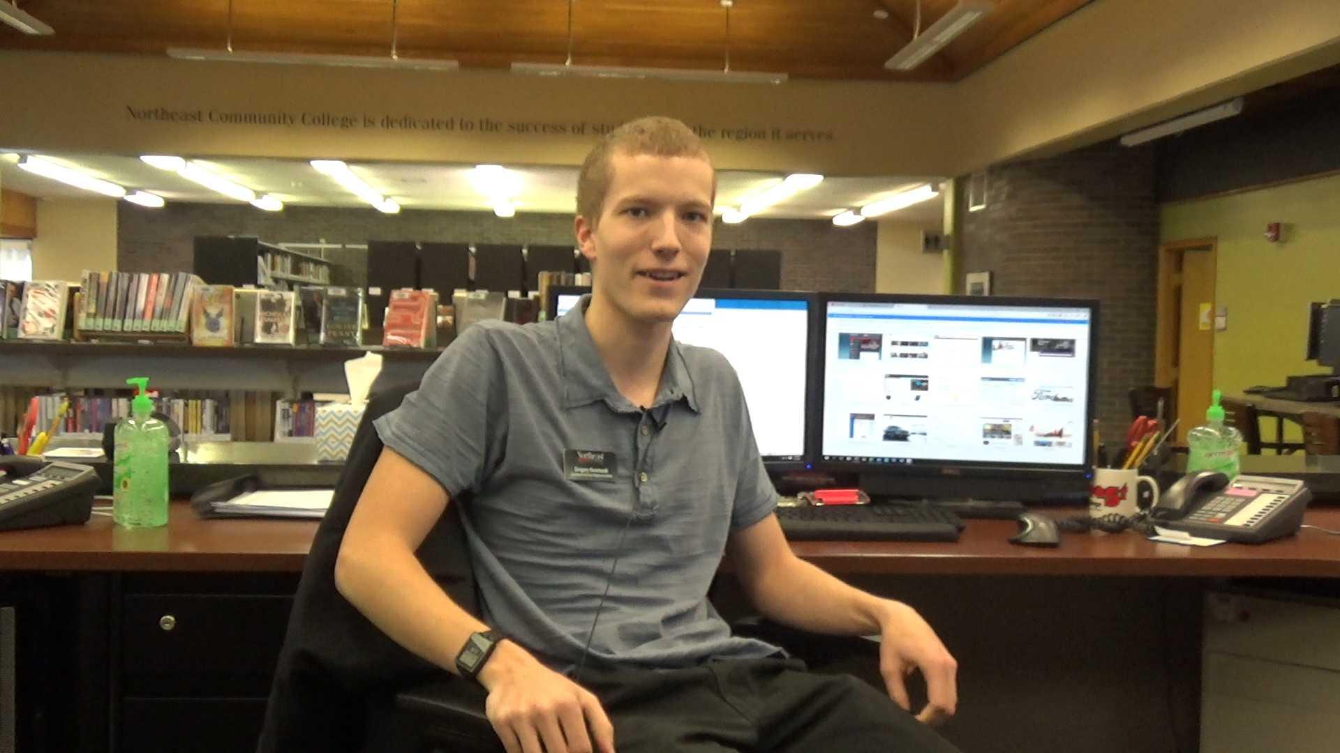Gregory Kosmacek, Customer Service Representative at the Northeast Help Desk