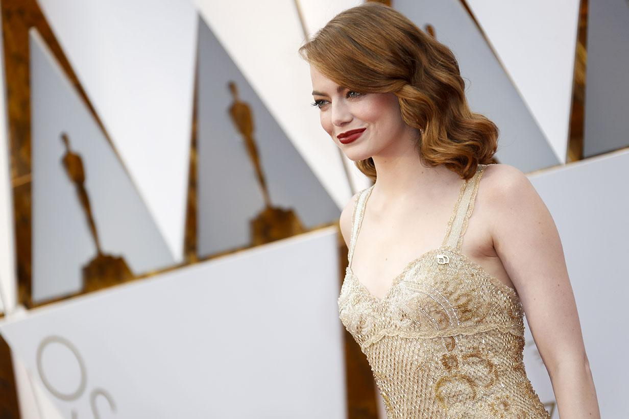 Emma Stone arrives at the 89th Academy Awards on Sunday, Feb. 26, 2017, at the Dolby Theatre at Hollywood & Highland Center in Hollywood. (Jay L. Clendenin/Los Angeles Times/TNS)