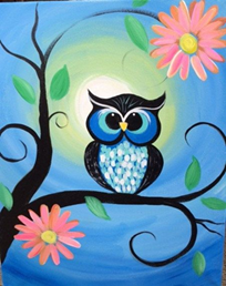 Learn to paint owls!