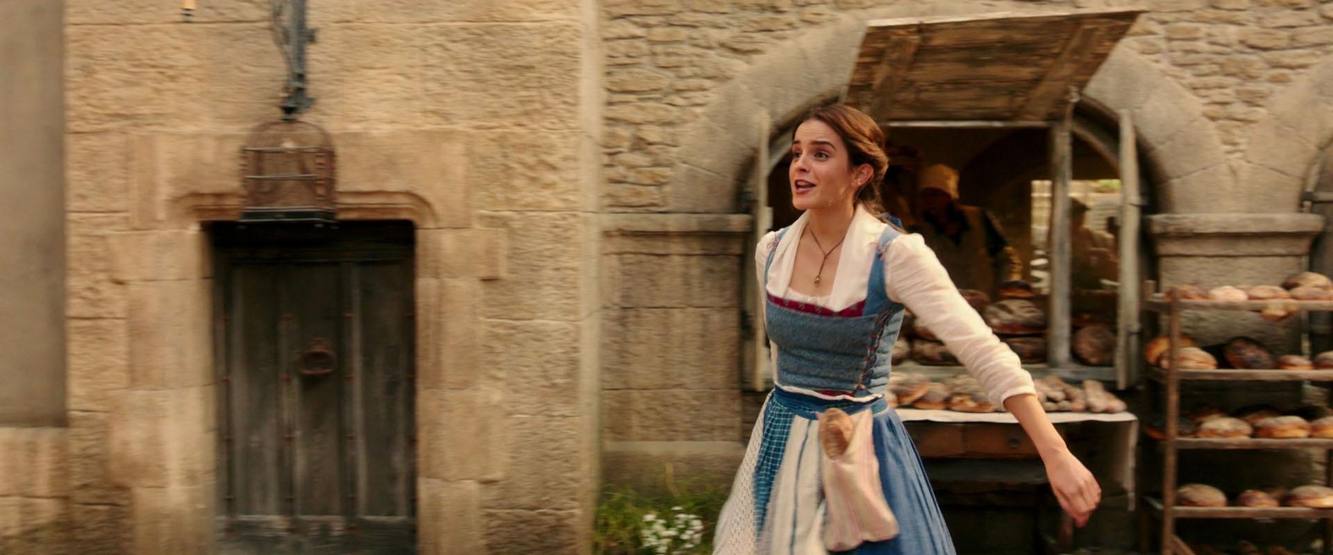 Emma Watson as Belle in a scene from the movie