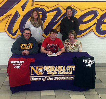 Nebraska City's Riege signs to play soccer at Northeast