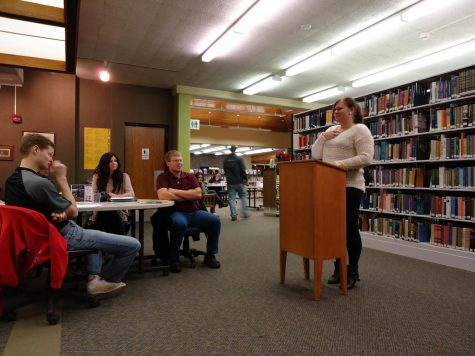 Students read their poetry and stories at Northeast Community College Library