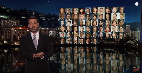 Jimmy Kimmel delivers an emotional message regarding Las Vegas