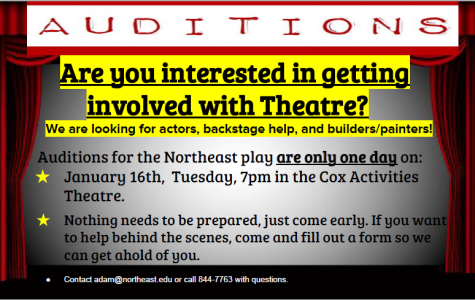 Northeast spring play auditions January 16 at 7 p.m.