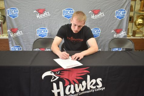 Aaron Wilken signs to Northwestern College