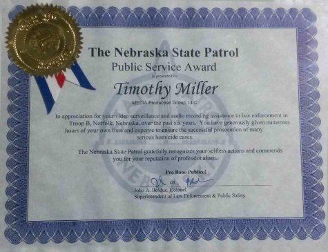 Timothy Miller Public Service Award