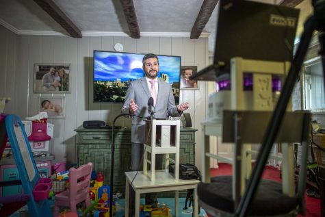Barking dogs, toys, makeshift prompters: Behind the scenes with stay-at-home TV anchors